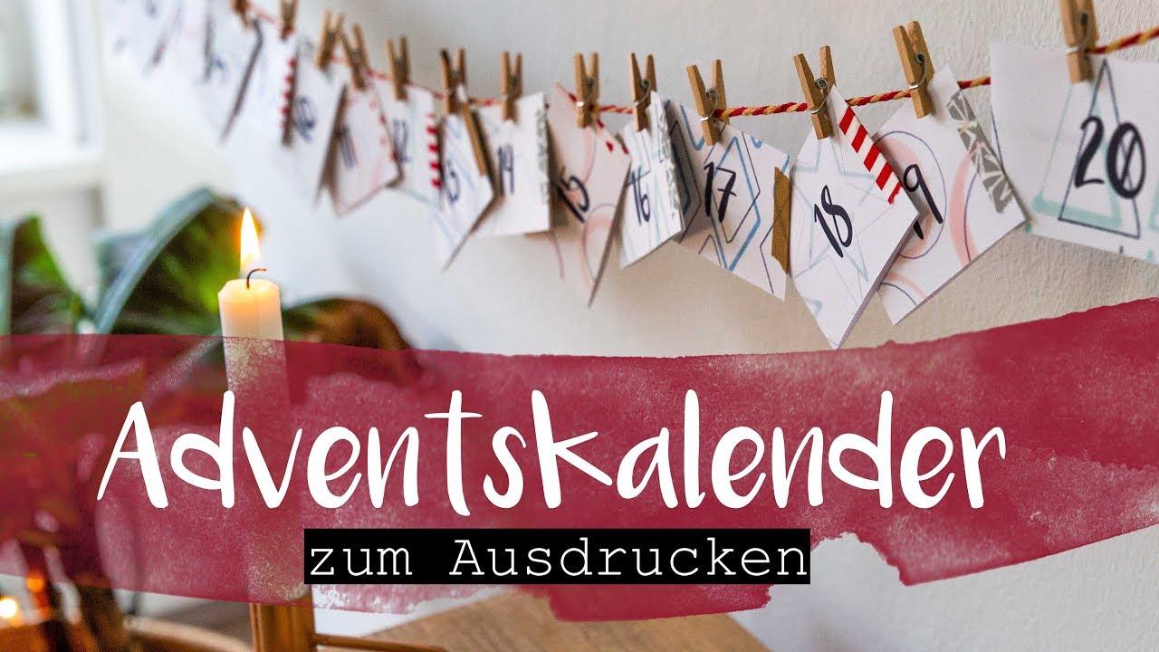 DIY Adventskalender zum Ausdrucken   Achtsamkeit, Fragen, Zeit für dich