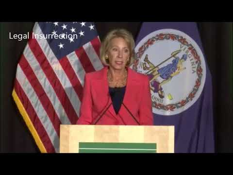 Betsy DeVos on Title IX