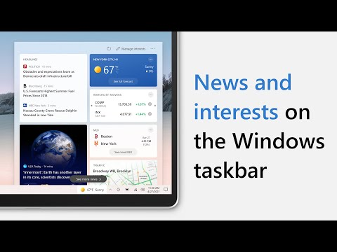 Introducing news and interests on the Windows taskbar