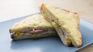 МЕГА сэндвич на завтрак  Простой и вкусный рецепт