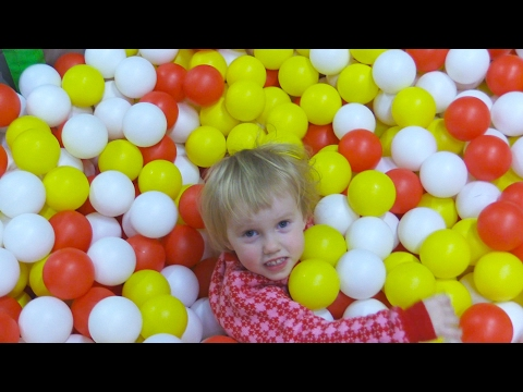 Indoor Playground Family Fun for Kids Part 5 with Spelling | Ball Pits, Inflatables, Slides, Tunnels