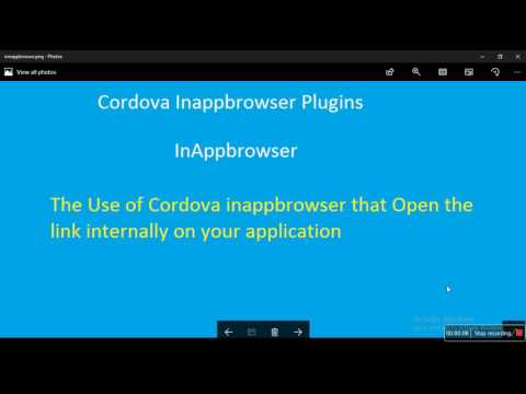 InAppbrowser plugin in Cordova application