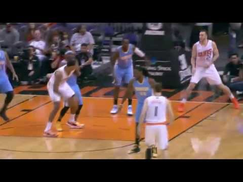 Channing Frye Bully's Ty Lawson for the Dunk | Suns vs Nuggets |