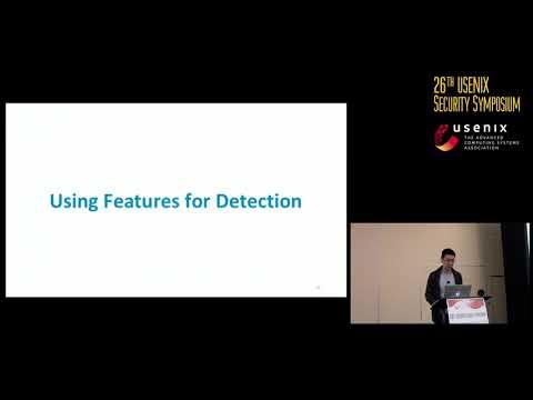 USENIX Security '17 - Detecting Credential Spearphishing in Enterprise Settings