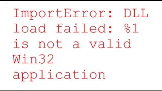 Exe not a valid win32 application error in all windows