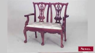 Antique 2 English Chippendale Style (20th Cent) Mahogany
