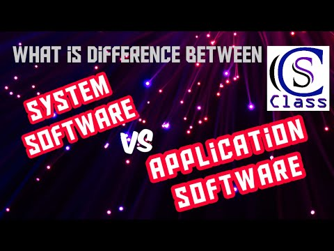 System Software And Application Software In English On CS Class