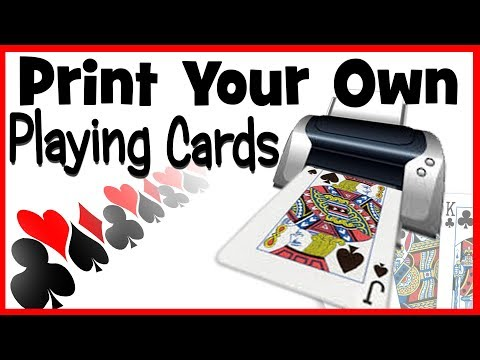 How to Make Your Own Custom Gaff Playing Cards | Print Your Own Magic Card Tricks DIY For Magicians