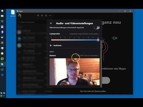 Skype 8 Webcam Einstellungen und Windows 8