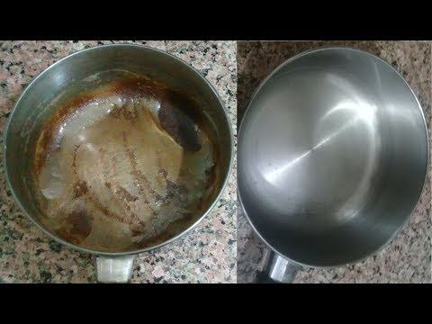 DIY How to Clean Burnt Pan Easily - Kitchen Tips