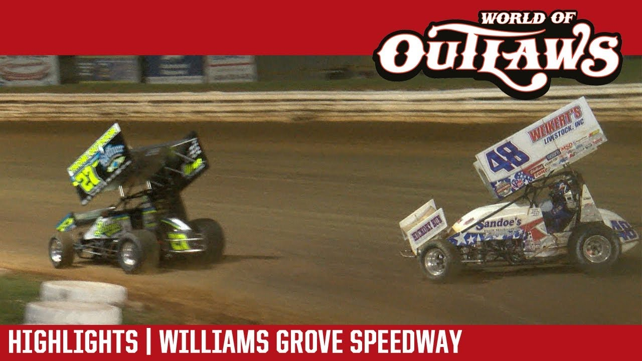 world-of-outlaws-craftsman-sprint-cars-williams-grove-september-28-2017-race-2-highlights