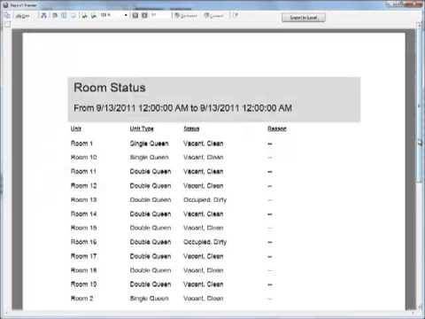 room status report
