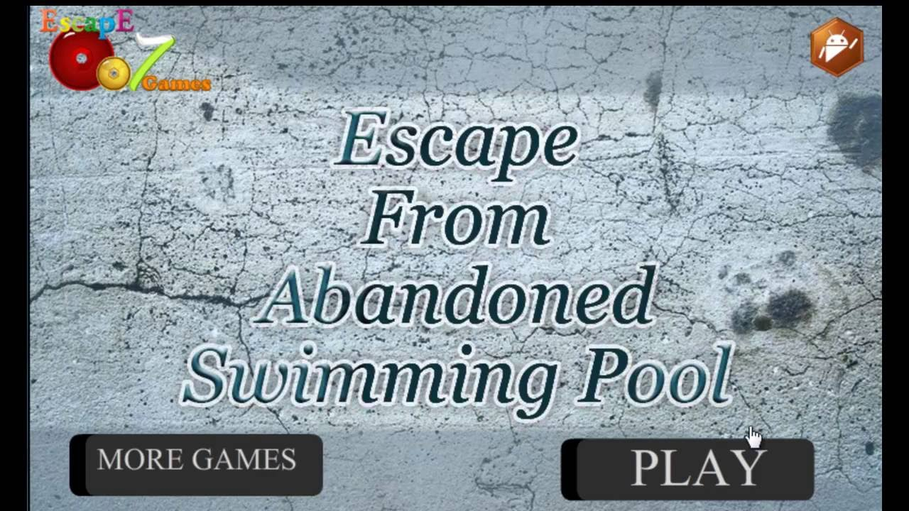 Escape From Abandoned Swimming Pool Escape Escape 007 Games Walkthrough Youtube