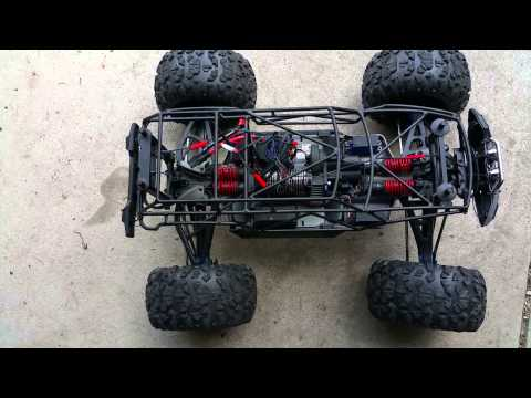 VG Racing steel rollcage for traxxas summit part 2