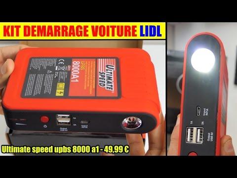Kit Demarrage Voiture Lidl Ultimate Speed Upbs 8000 Jump Starter Booster Selbststarthilfe Mit Power