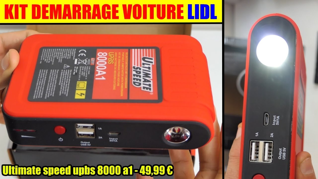 Kit Demarrage Voiture Lidl Ultimate Speed Upbs 8000 Jump