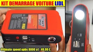 kit demarrage voiture lidl ultimate speed upbs 8000 jump starter booster selbststarthilfe mit power
