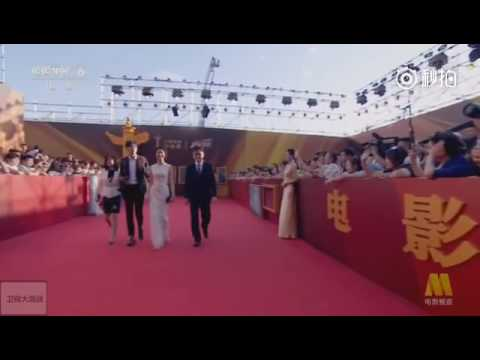 20160624 - Z.Tao with EOI on red carpet of China Movie Awards