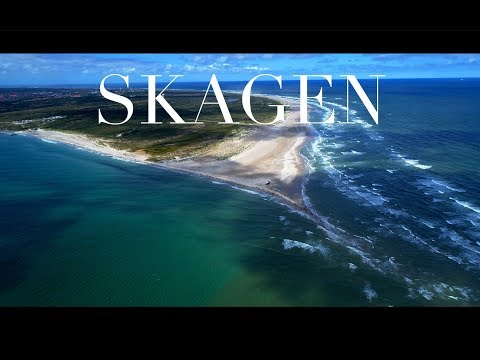 SKAGEN, Denmark - where the Baltic meets the North Sea (drone, 4K)