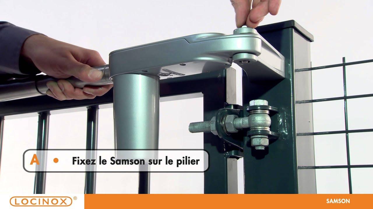 Locinox SAMSON Ferme Porte Réglable YouTube - Ferme porte exterieur