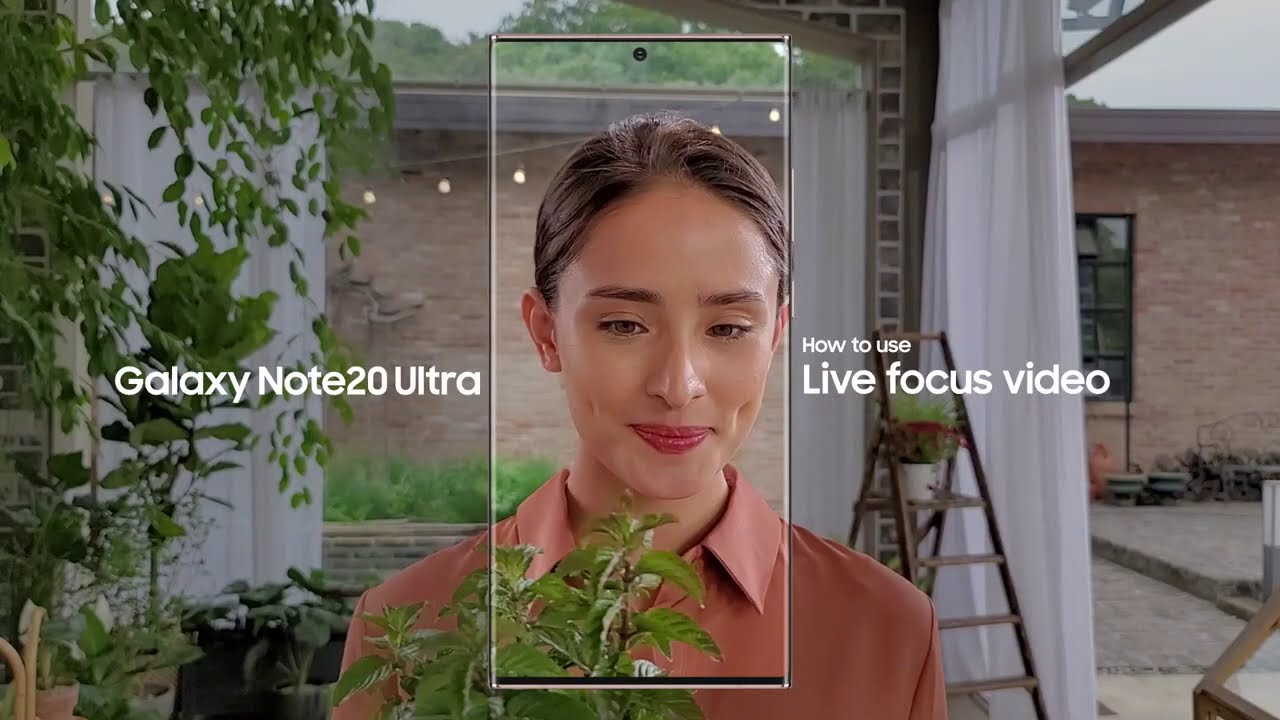 Samsung Indonesia: Galaxy Note20 Ultra - How to use Live focus video