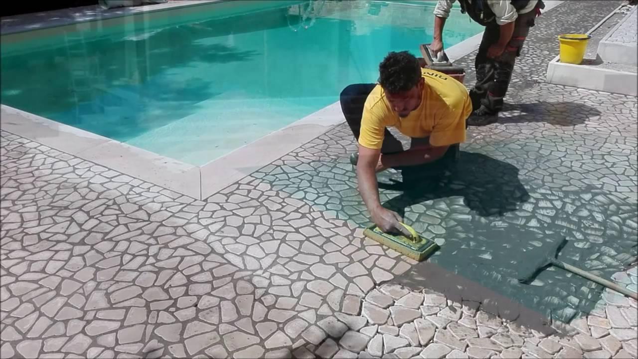 Plm pavimentazioni in pietra per piscine e giardini posa - Ipoclorito di calcio per piscine ...