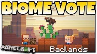 Minecraft - BIOME VOTE - MINECON LIVE ! VULTURES & NEW CACTUS = BADLANDS - MCPE / Bedrock / Java