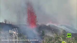 بدء ثوران بركان في جزيرة لابالما الإسبانية