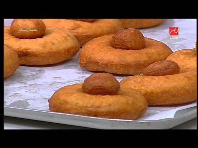 مقادير وطريقة عمل حلوى الدونتس من الشيف حسن