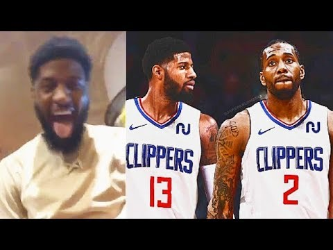 Paul George Celebrates Joining Clippers With Kawhi Leonard & NBA Players React!