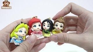 | 開箱 | 日本 T-ARTS 轉蛋 扭蛋 Q版 迪士尼 公主 大頭 吊飾 愛麗絲 ALICE 小美人魚 Ariel 花木蘭 貝兒 Belle 公仔 | Wenwens | 分享文