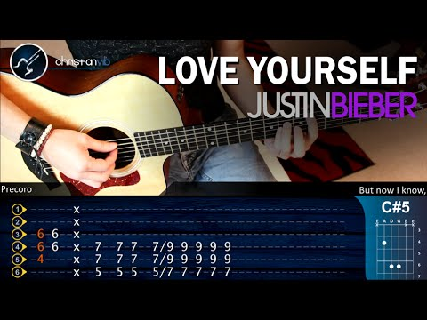 Guitar guitar tabs love yourself : Love Yourself Justin Bieber Guitar Lesson Tutorial Chords | Demo ...