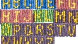 Part 8 : How to make the letter G friendship bracelet alphabet, letter, name, word