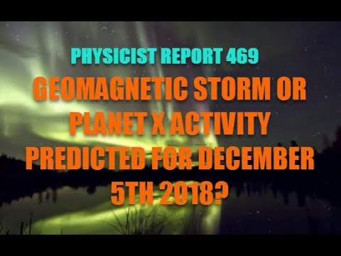 Physicist Report 469 Geomagnetic Storm or Planet X activity predicted
