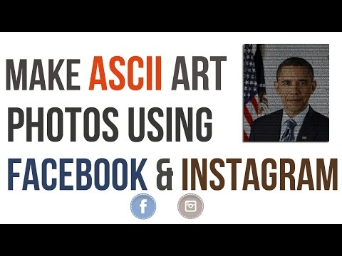 How to make your Photos as ASCII Art on Facebook and Instagram