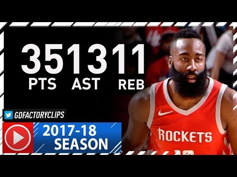 James Harden Triple-Double Highlights vs Cavaliers (2017.11.09) - 35 Pts, 13 Ast, 11 Reb, MVP!