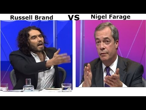 Question Time, Nigel Farage vs Russell Brand on Immigration... 11/12/14