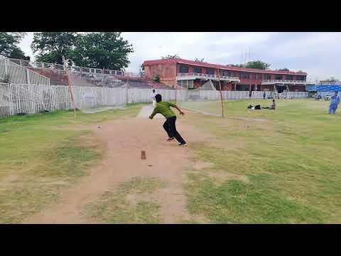 Zeeshan Naveed Baghi From MCC Batting In Nets