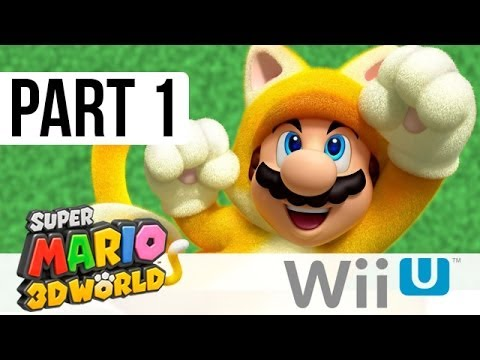 Super Mario 3D World Walkthrough Part 1, World 1 (Wii U Gameplay 1080p HD)