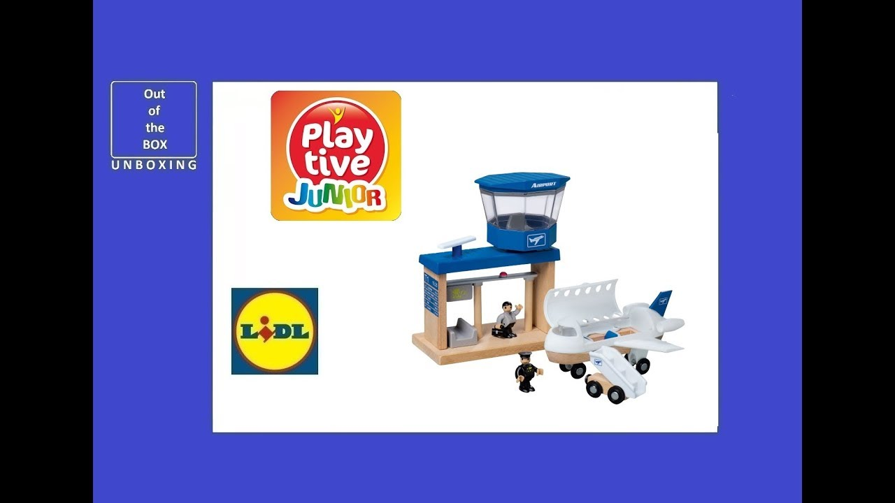 Playtive Junior Wood Airport Unboxing Lidl 3 8 Age 18