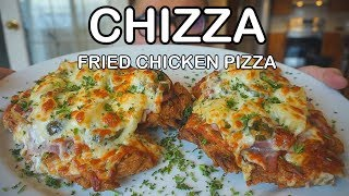 How to make CHIZZA - Fried Chicken Pizza