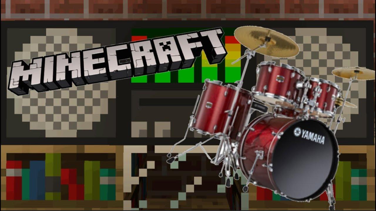 современное барабан в майнкрафт сделали один