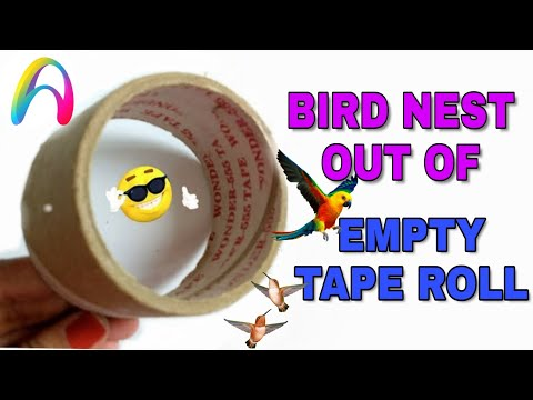 Best out of waste | How to make Bird nest  | making bird nast