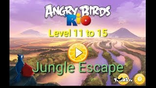 Angry Birds Rio||Jungle Escape||Level 11 To 15