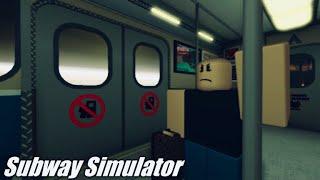 ROBLOX Subway Simulator Got the 100 hour badge randomly