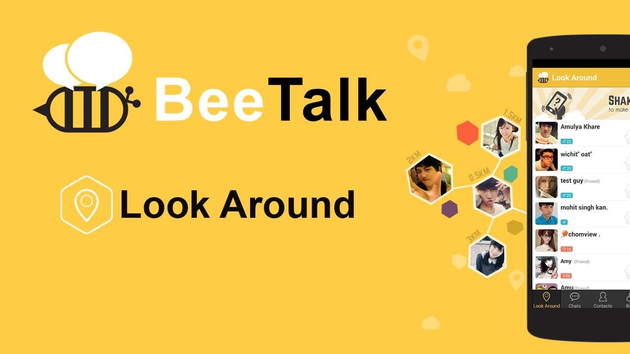 Cara mencari teman baru menggunakan fitur Look Around pada BeeTalk