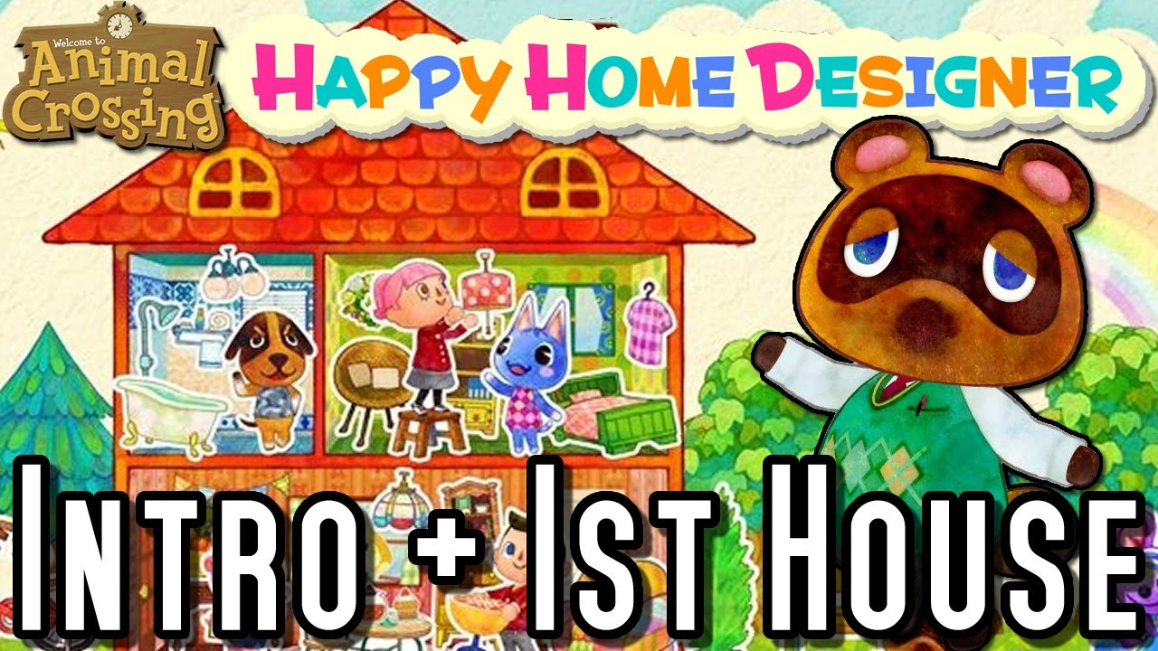 Animal crossing happy home designer intro first home for 7 11 happy home designer