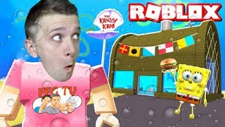 Gone in the Krusty krab ROBLOX visiting SPONGEBOB'S funny adventure cartoon hero robloks from FFGTV
