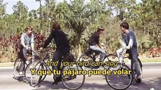 And your bird can sing - The Beatles (LYRICS/LETRA) [Original