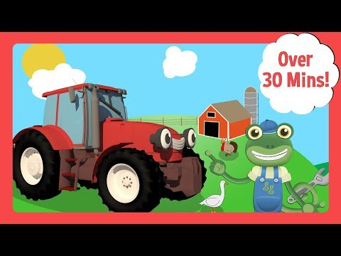 Tractors For Kids With Gecko's Garage And Lots Of Farm Animals | Toddler Fun Learning